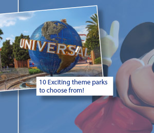 10 Exciting theme parks to choos from!