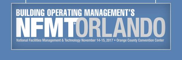 NFMT Orlando                                                         November 14-15, 2017                                                         Orange County Convention Center