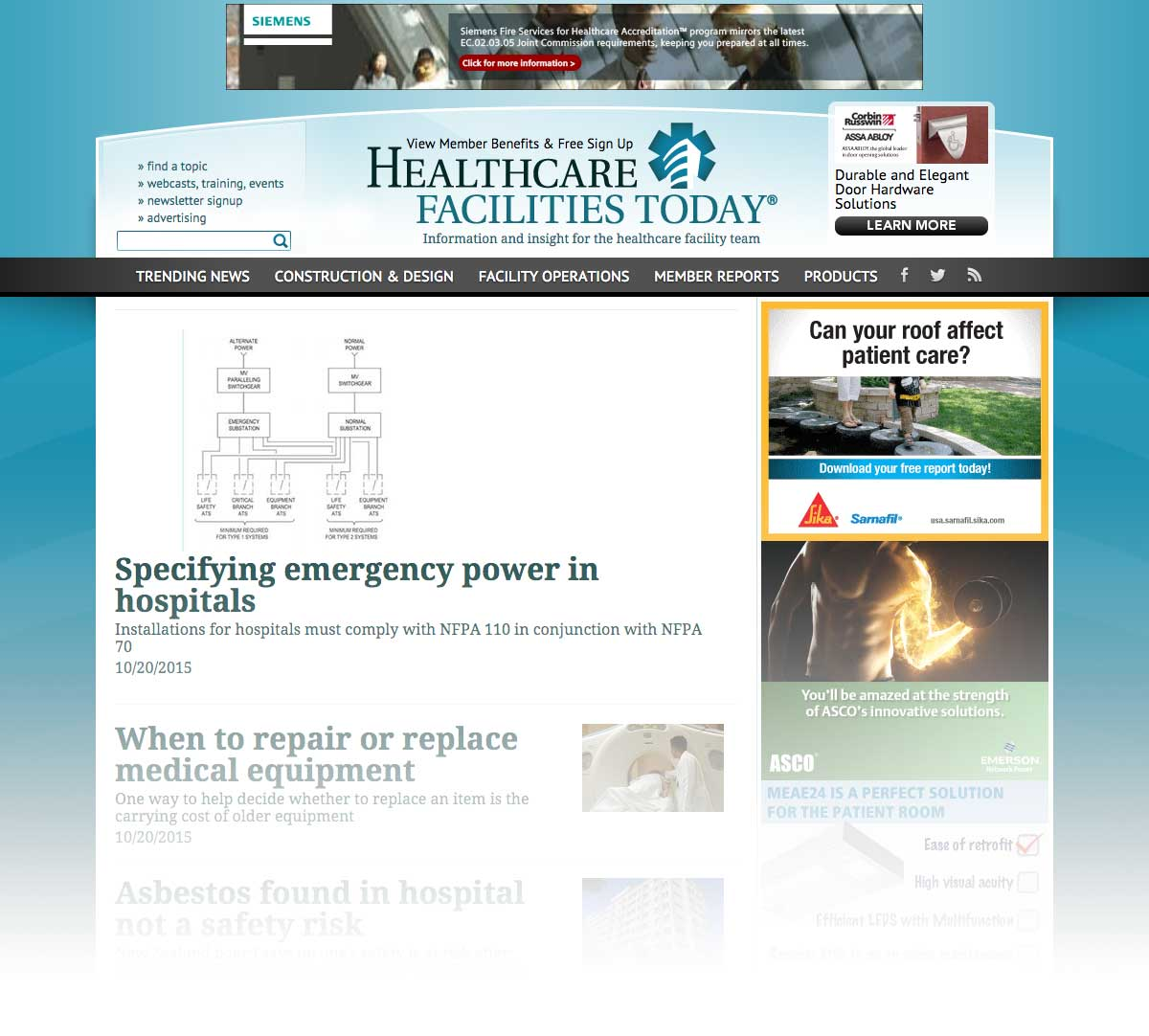 Healthcare Facilities Today Ultra Ad Sample