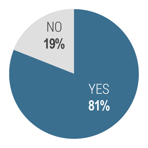 Yes 81% No 19%