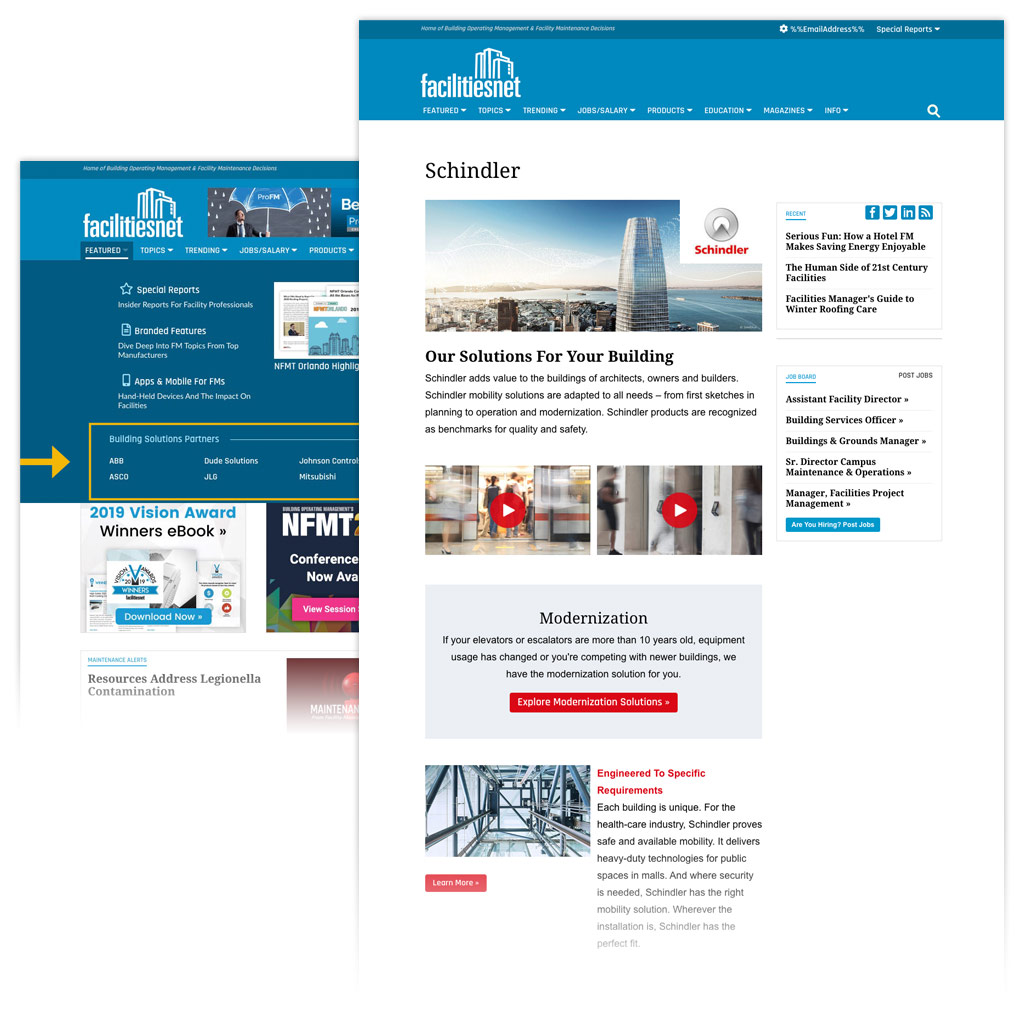 Building Solutions Partner Page